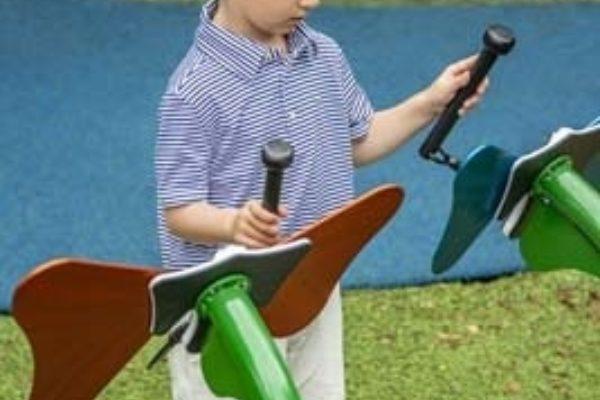 Boy playing butterflies
