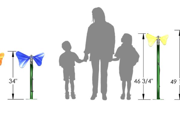 Toddler versus Standard Height Butterfly Ensemble
