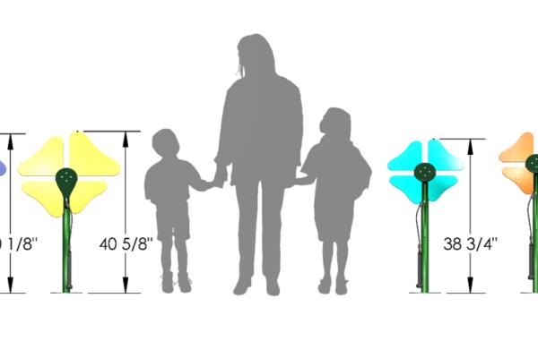 Toddler versus Standard heigh Flower Ensemble