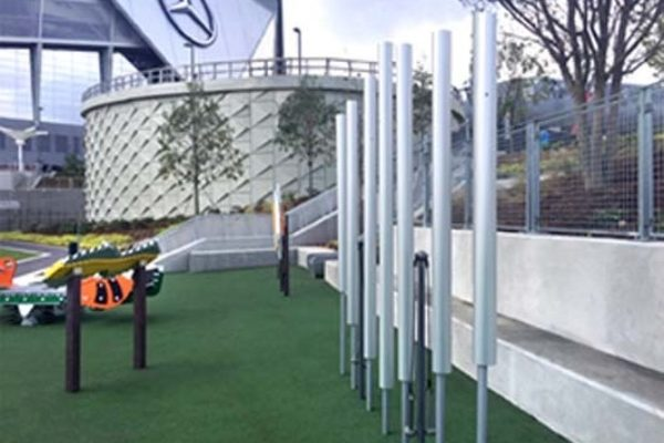 Contrabass Chimes at Mercedes Stadium
